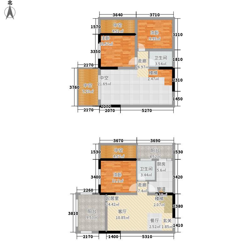 金科10年城83.50㎡三期B4号楼标面积8350m户型