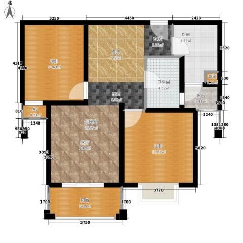 保利金爵公寓2室0厅1卫1厨101.00㎡户型图