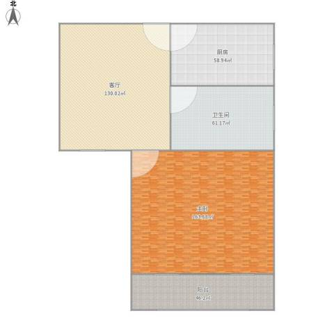 绿洲比华利花园1室1厅1卫1厨590.00㎡户型图