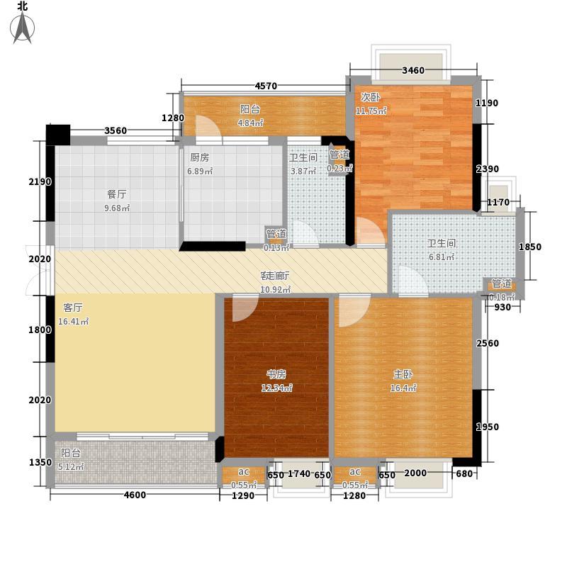 翡翠绿洲120.00㎡金色凡尔赛68栋01户型3室2厅