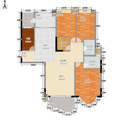 骏景花园南苑4室0厅2卫1厨163.00㎡户型图