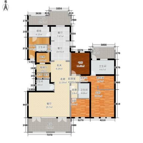 金地佘山天境2室0厅4卫1厨230.00㎡户型图