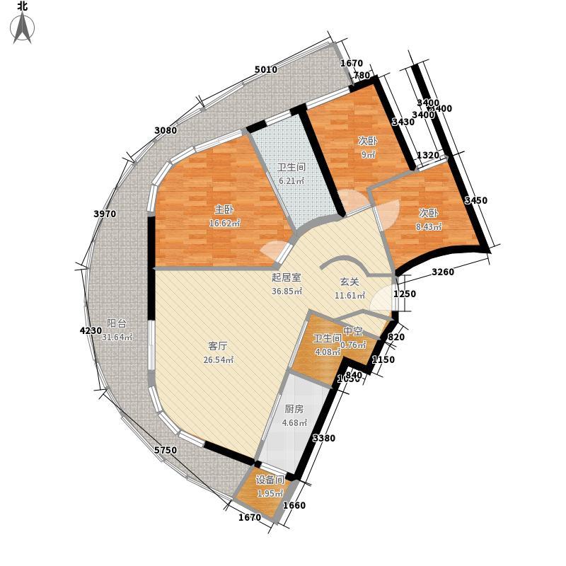珠江俪豪137.00㎡7号户型3室2厅