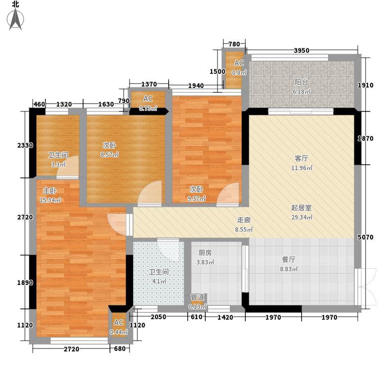 金源城101.11㎡HA-3户型2室2厅