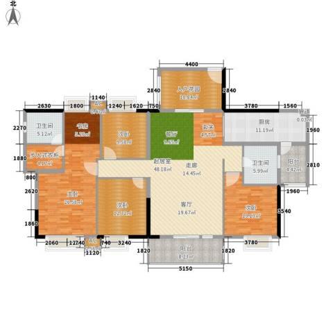 丽晶明珠4室0厅2卫1厨178.00㎡户型图