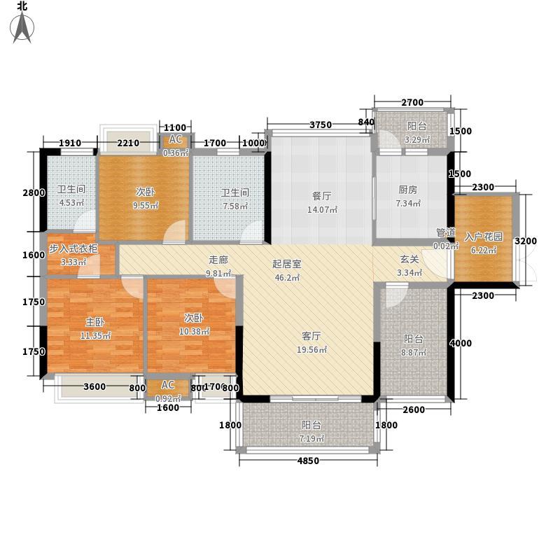 王洲湾1号143.00㎡6栋户型3室2厅