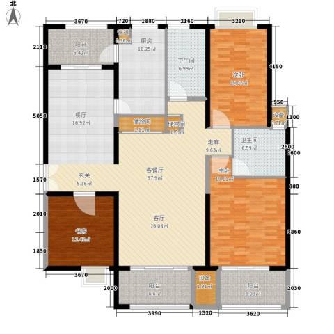 黄浦逸城3室1厅2卫1厨169.00㎡户型图