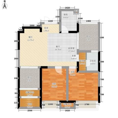 荣禾城市理想2室0厅1卫1厨89.00㎡户型图