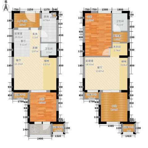 荣禾城市理想2室0厅2卫1厨116.00㎡户型图