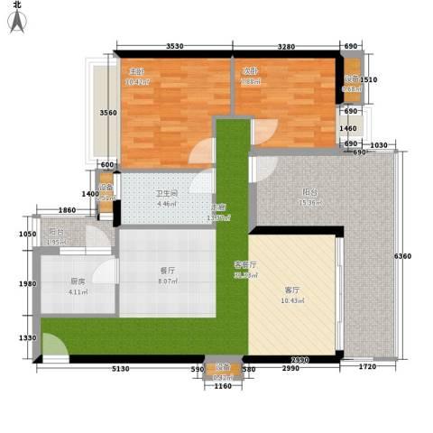 花样年别样城2室1厅1卫1厨88.00㎡户型图