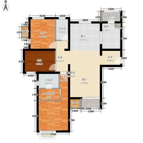 双威悦馨苑3室0厅2卫1厨149.00㎡户型图