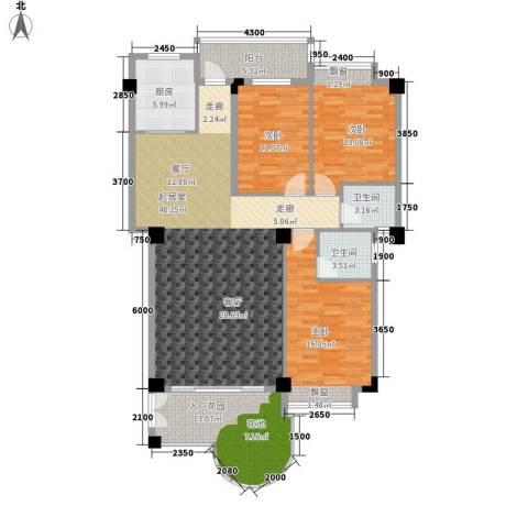 汇景蓝湾3室0厅2卫1厨157.00㎡户型图