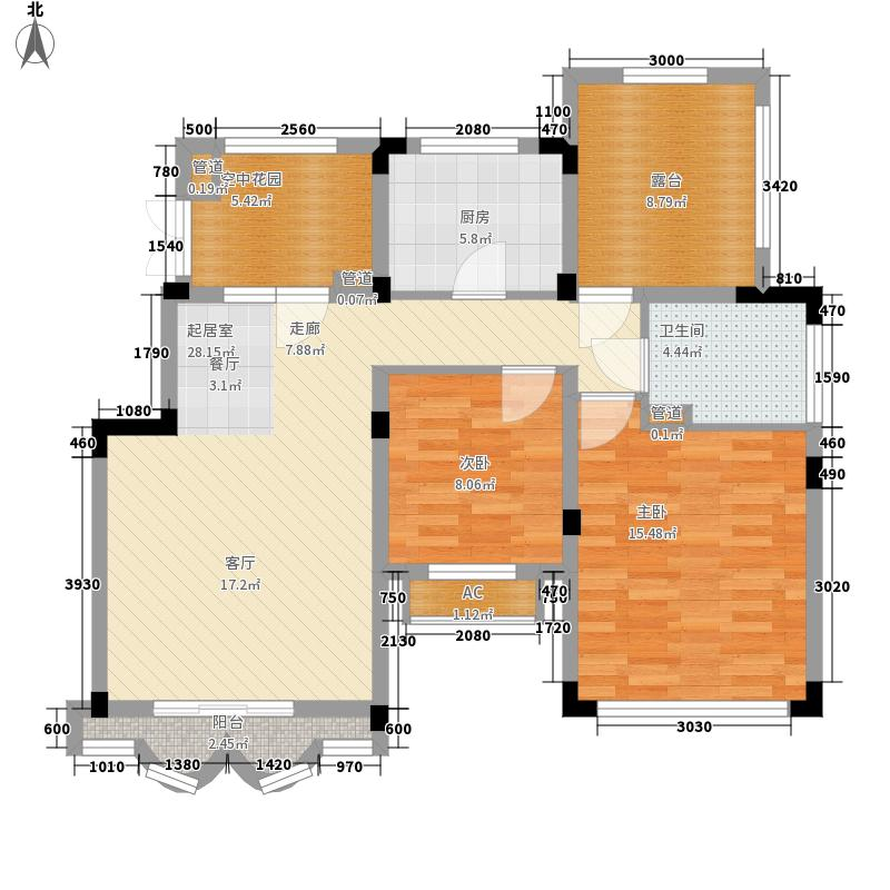 郑州正商红河谷93.00㎡电梯洋房七层F户型2室2厅