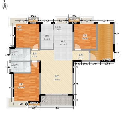 三和悦城3室0厅2卫1厨149.00㎡户型图