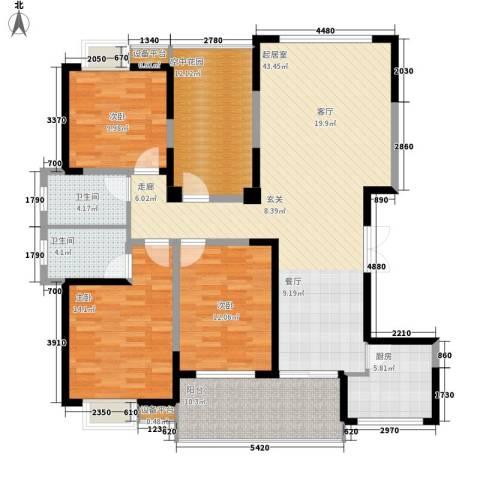 三和悦城3室0厅2卫1厨166.00㎡户型图