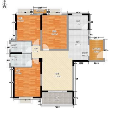 三和悦城3室0厅2卫1厨143.00㎡户型图