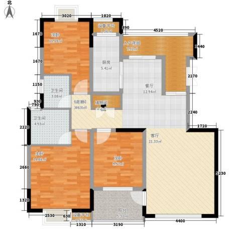 三和悦城3室0厅2卫1厨148.00㎡户型图