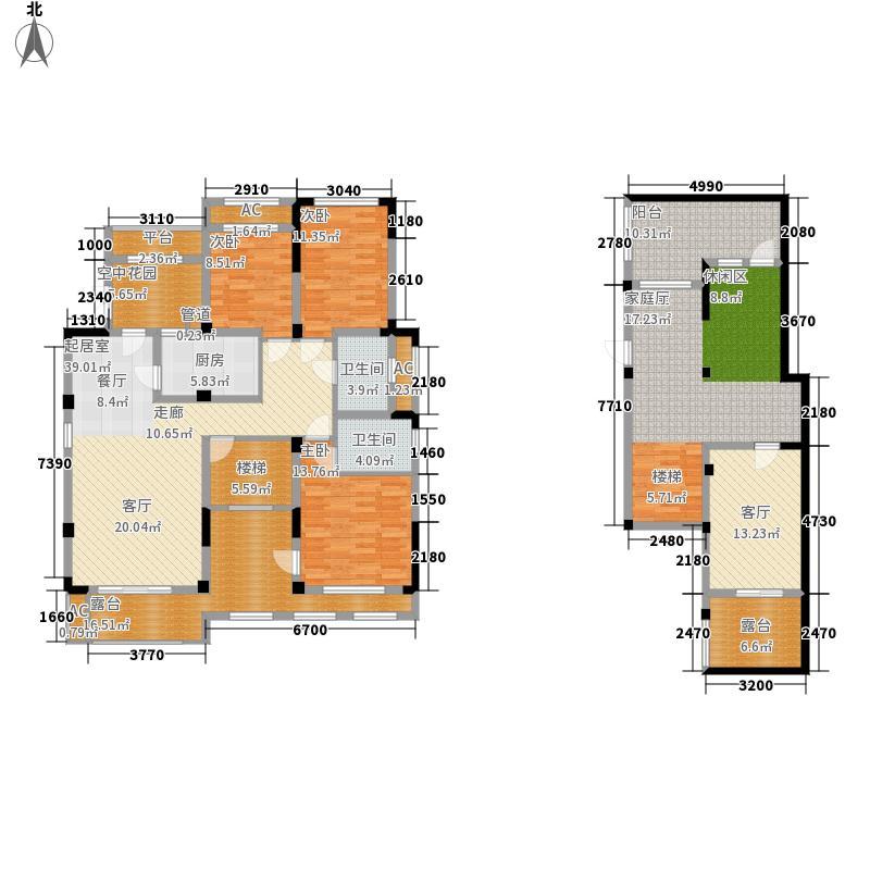 郑州正商红河谷140.00㎡正商红河谷花园洋房B户型3室2厅