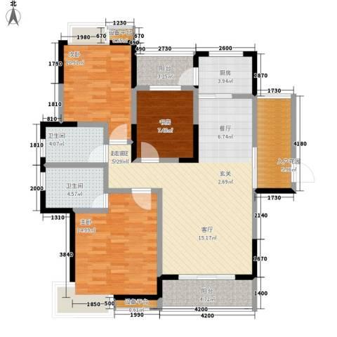 三和悦城3室0厅2卫1厨132.00㎡户型图