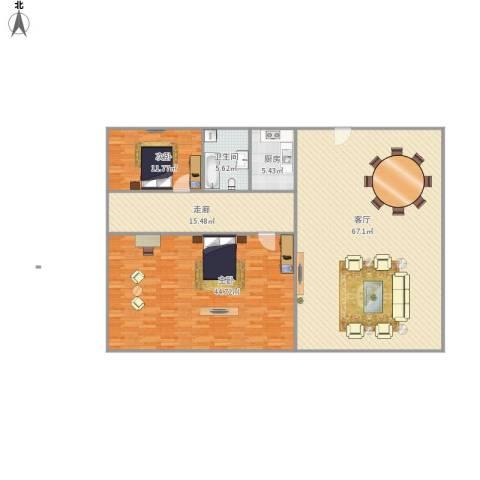颐景苑2室1厅1卫1厨196.00㎡户型图