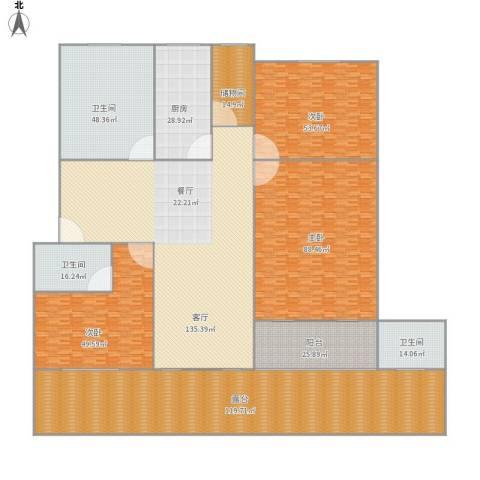 金桥馨苑3室1厅3卫1厨770.00㎡户型图