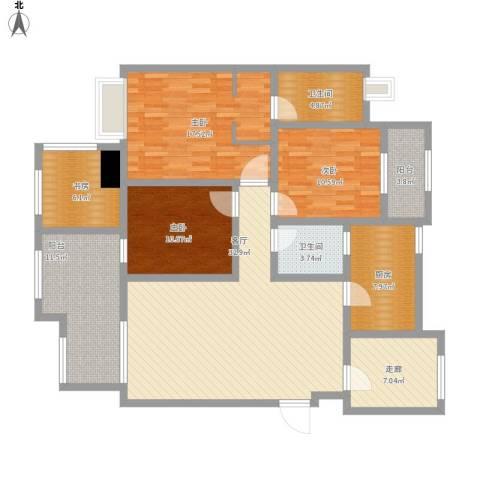九鼎御江山4室1厅2卫1厨170.00㎡户型图