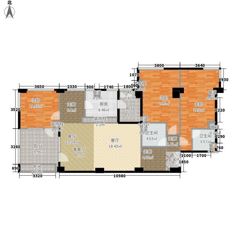 海碧台169.49㎡A5户型3室2厅