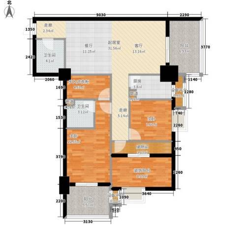 御笔华府2室0厅2卫1厨129.00㎡户型图