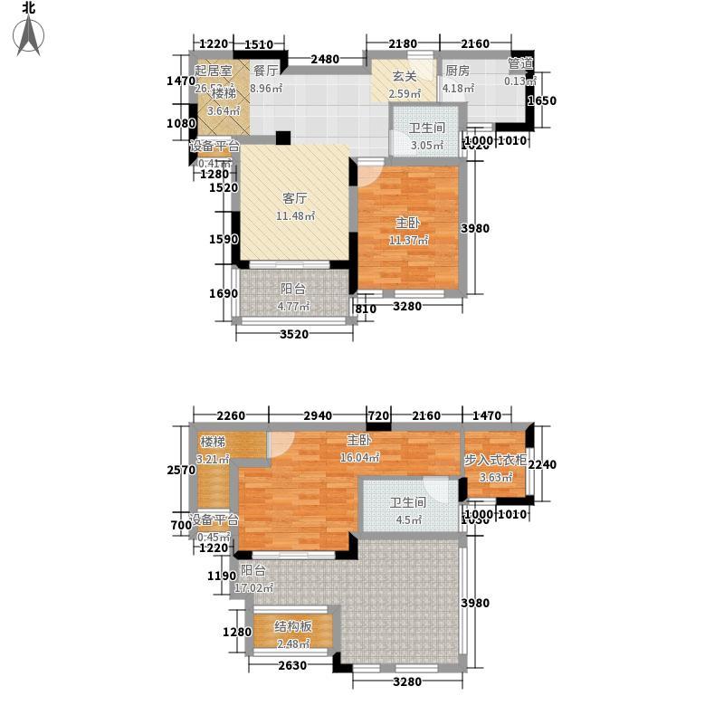 绿地世纪城115.75㎡12#丙单元9022室户型