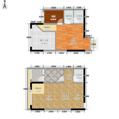 平安摩卡城2室0厅2卫1厨118.00㎡户型图