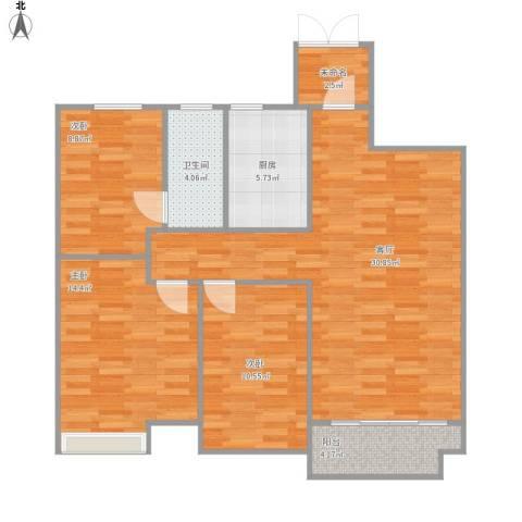 海亮香榭里3室1厅1卫1厨110.00㎡户型图