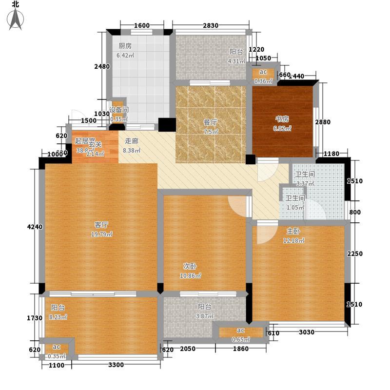 万业·观山泓郡113.00㎡D1户型3室2厅