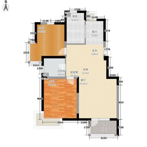 武清五一阳光2室0厅1卫1厨93.00㎡户型图