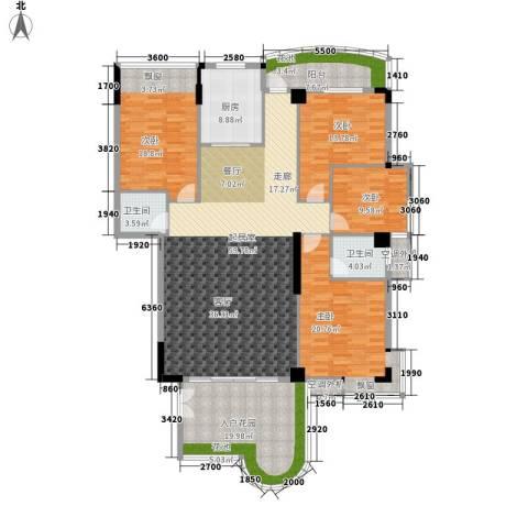 汇景蓝湾4室0厅2卫1厨184.00㎡户型图