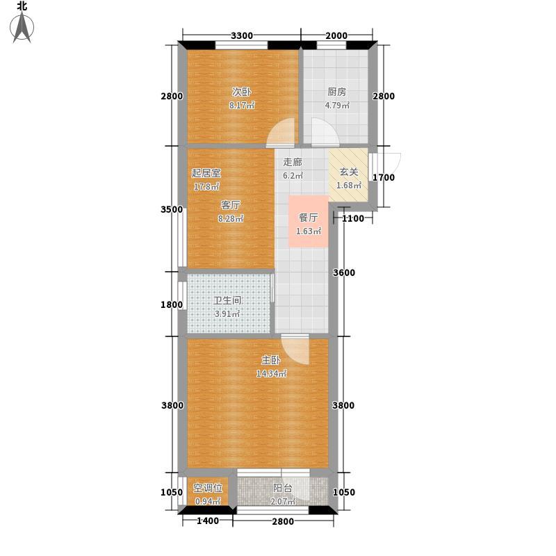 中精众和老年社区A户型2室2厅