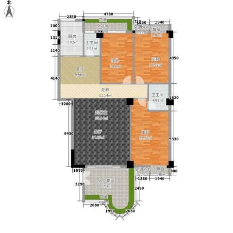 汇景蓝湾3室0厅2卫1厨160.00㎡户型图