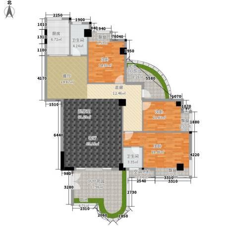 汇景蓝湾3室0厅2卫1厨162.00㎡户型图