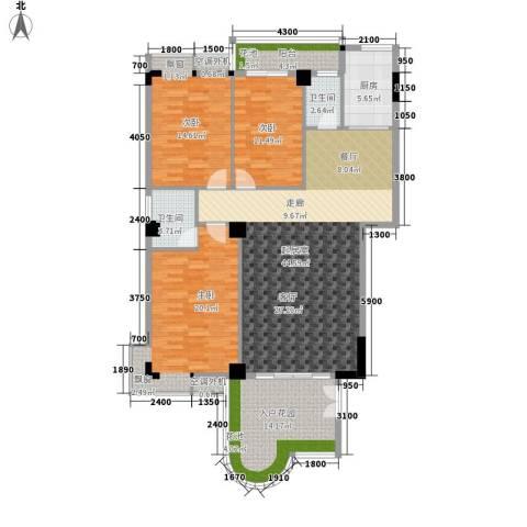 汇景蓝湾3室0厅2卫1厨159.00㎡户型图
