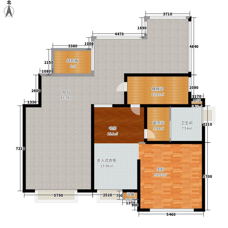 金地自在城195.00㎡四期1-4幢标准层C1-5'六层户型4室3厅