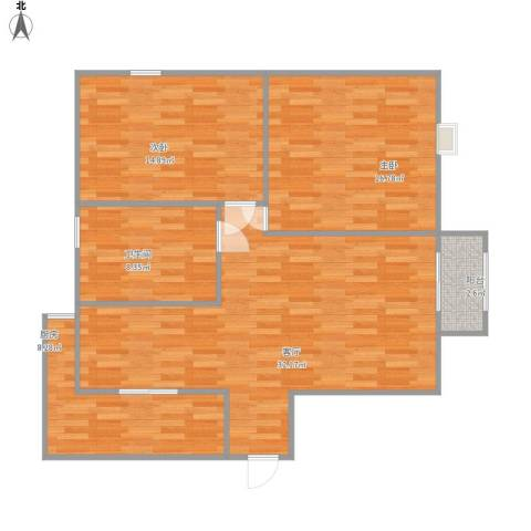 华丽花园2室1厅1卫1厨111.00㎡户型图