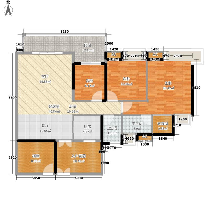中海花城湾145.96㎡B3栋04单元3面积14596m户型