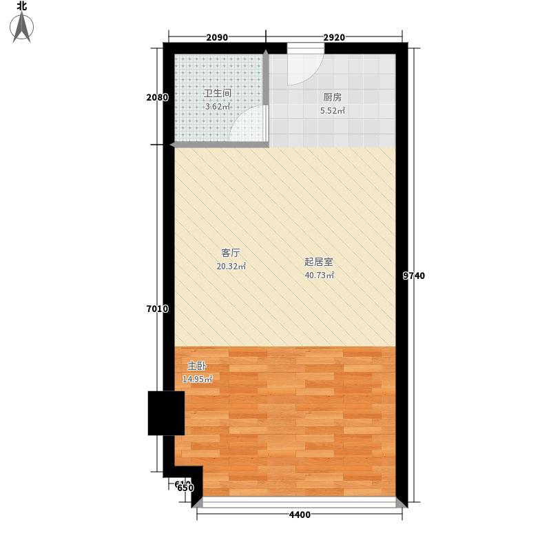 汇特大厦48.37㎡B4-18层面积4837m户型