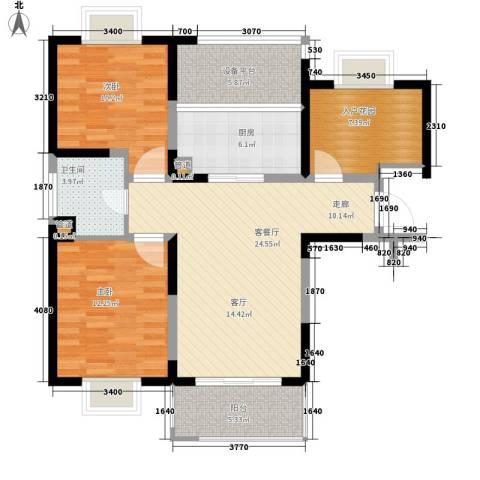 新虹桥首府2室1厅1卫1厨88.00㎡户型图