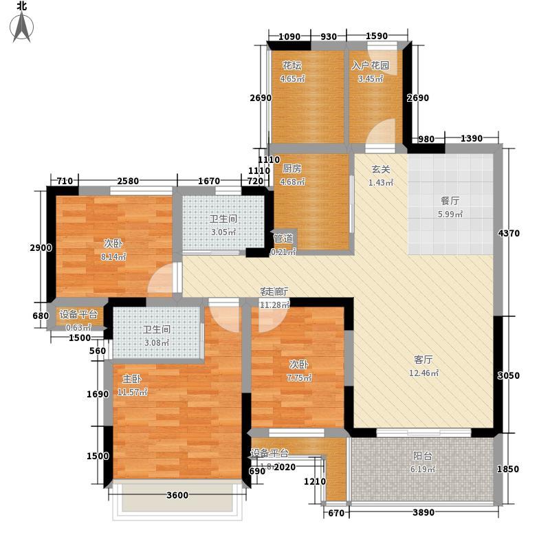 金科一城99.06㎡红人馆6、7#楼标面积9906m户型