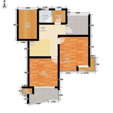 德润园2室0厅1卫0厨92.00㎡户型图