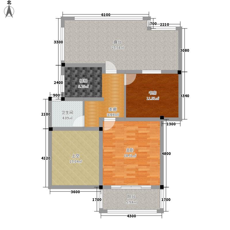 南宁奥园155.50㎡2I2楼中楼上层户型5室2厅