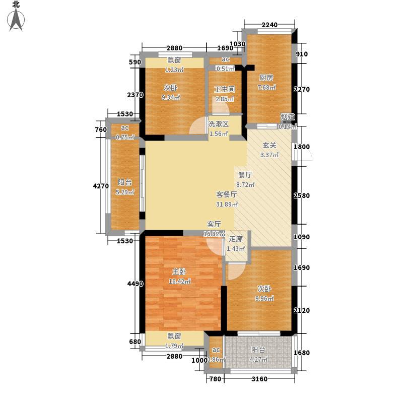 恒威国际城108.00㎡C4户型3室2厅