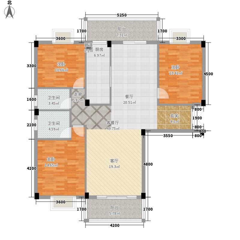 南宁奥园144.03㎡1A户型3室2厅