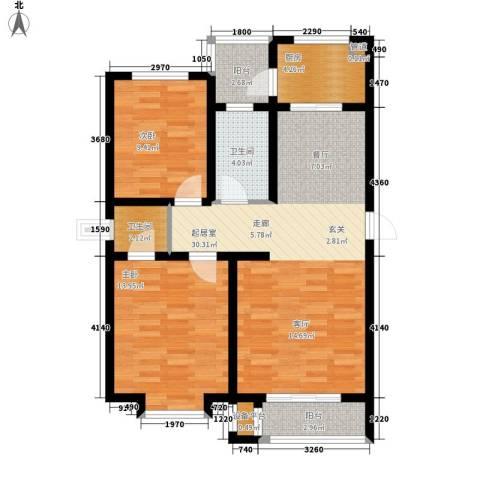 兴盛景悦蓝湾2室0厅2卫1厨103.00㎡户型图