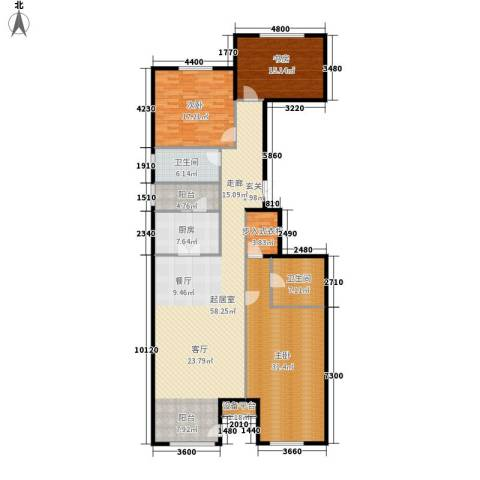 上东8号3室0厅2卫1厨199.00㎡户型图